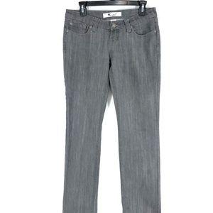 Wet Seal Straight Leg Denim Jeans 9 Jrs Grey